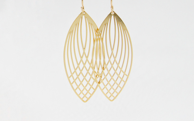 Goldene Feen-Flügel Ohrringe