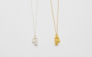Schlichte Halskette mit Seepferdchen
