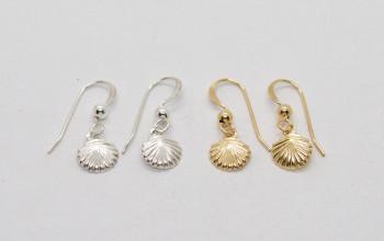 Kinderschmuck – Kleine Mädchen-Ohrringe mit Muschel