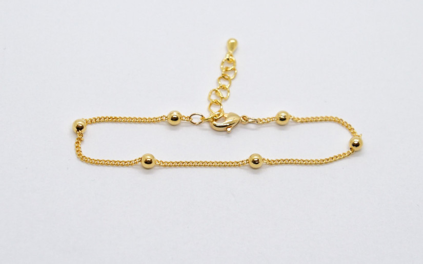 Goldene Sattelit Armkette