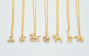 Kinder-Halsketten mit Tier-Anhänger