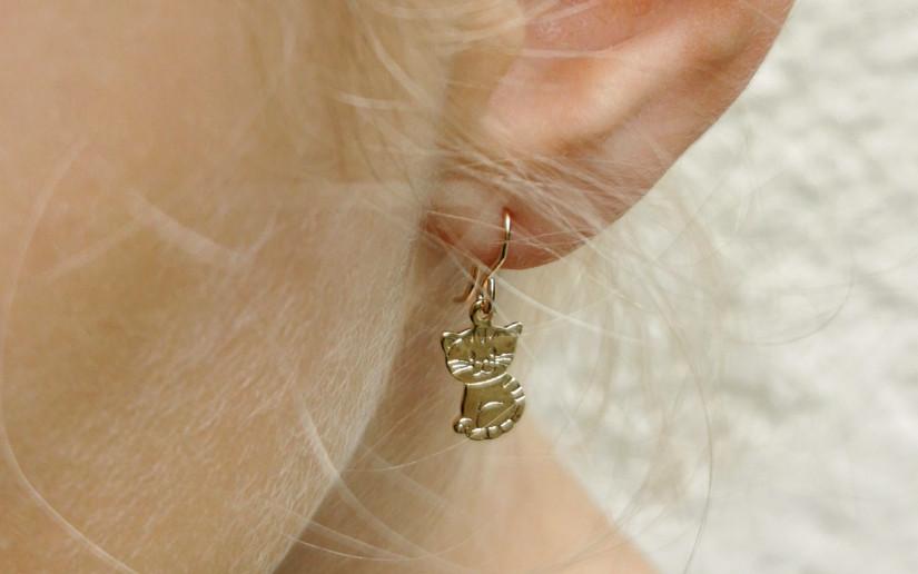 Süsse Kätzchen-Ohrringe