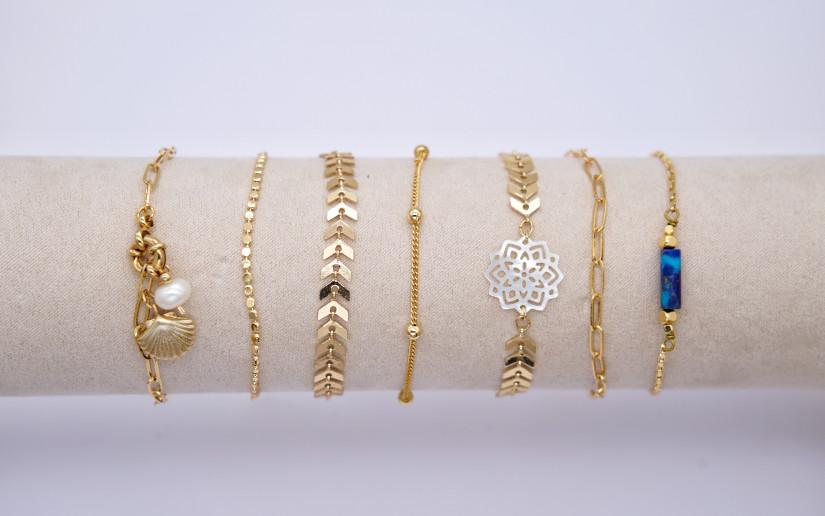 Schlichte goldene Armkette mit runden Glieder