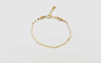 Schlichte goldene Armkette mit runden Gliedern